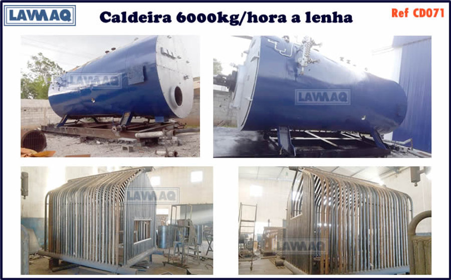 ref CD071 Caldeira de 6000 kg h a lenha