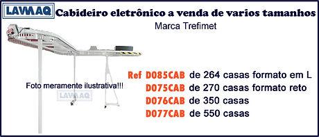 ref D085 75 76 e 77CAB Cabideiro eletron