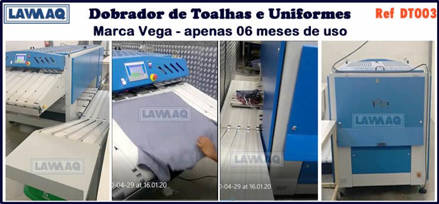 ref DT003 dobrador de toalhas e uniformes para lavanderia industrial