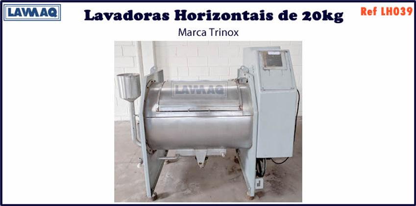 ref LH039 lavadora horizontal 20kg trinox