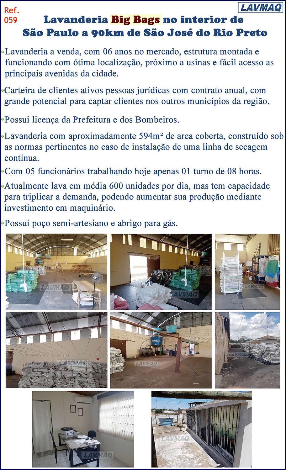 ref 059 lavanderia Bags regiao de sao jose do rio preto