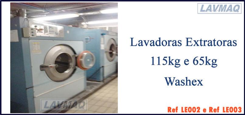 lavadora extratora usada 115kg e 65kg para lavanderia industrial