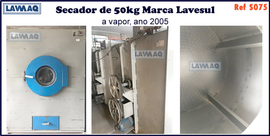 ref S075 secador 50kg a vapor marca lavesul