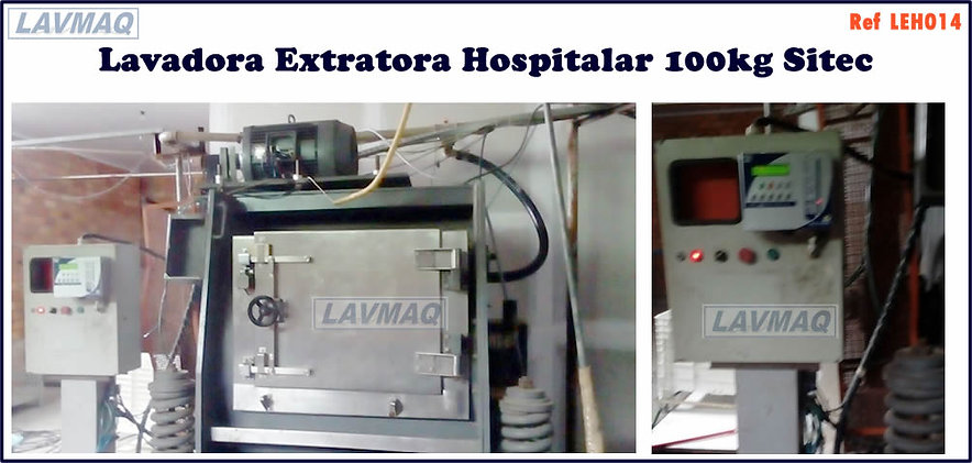 Lavadora extratora hospitalar usada  100kg Sitec para lavanderia industrial