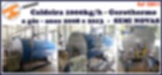 Caldeira usada 1000kg por hora a gás semi nova Gerothermo para lavanderia industrial LAVMAQ
