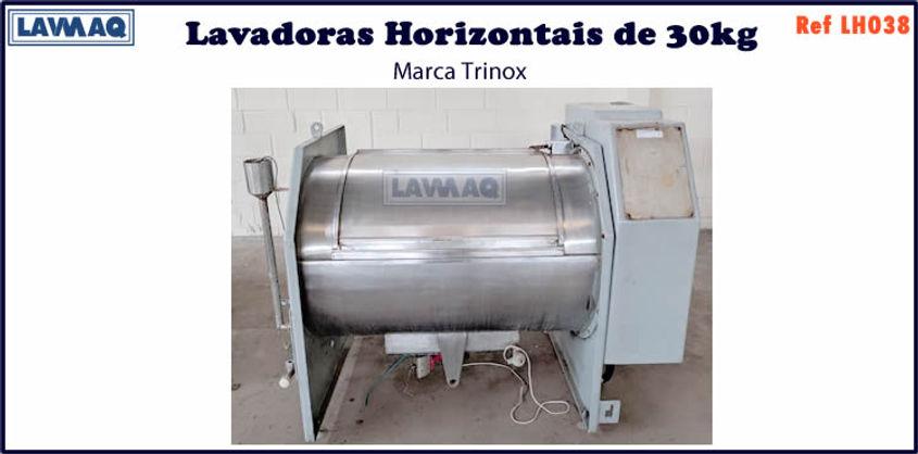 ref LH038 lavadora horizontal 30kg trinox