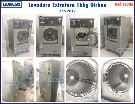 ref LE036 lavadora extratora 16kg girbau