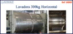 Lavadora horizontal 300kg para lavanderia industrial