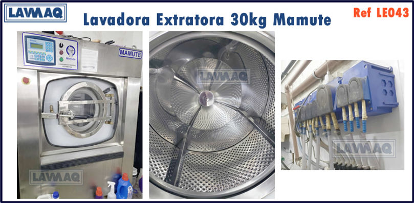 ref LE043 lavadora extratora 30kg Mamute