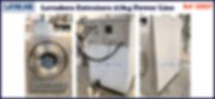 ref LE027 lavadora extratora usada 27kg Power Line para lavanderia industrial