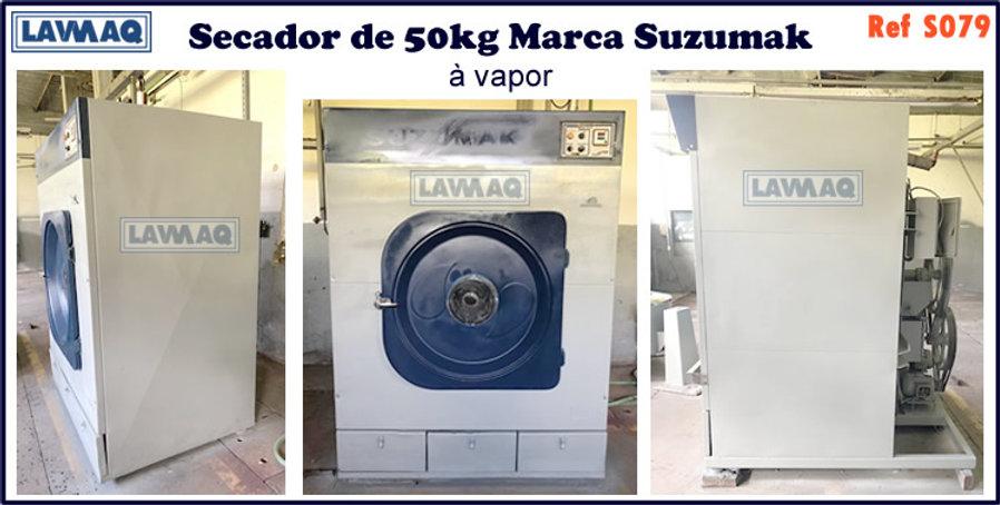 ref S079 secador 50kg a vapor marca suzumak