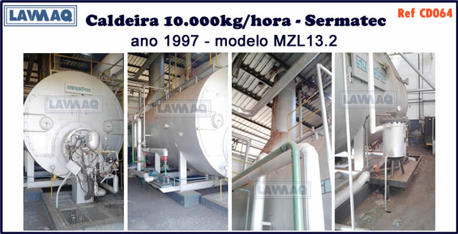 ref CD064 Caldeira de 10 000 kg h Sermat