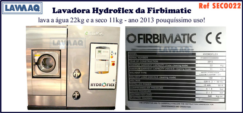 ref SECO022 lavadora a agua 22kg e a seco 11kg