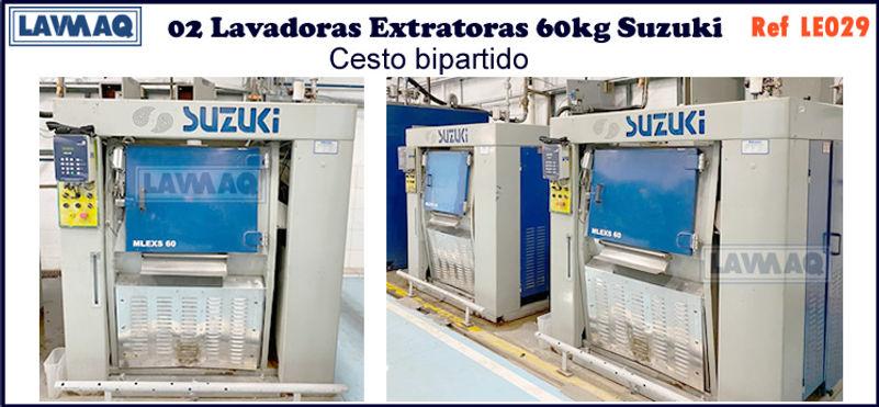 ref LE029 lavadora extratora 60kg Suzuki