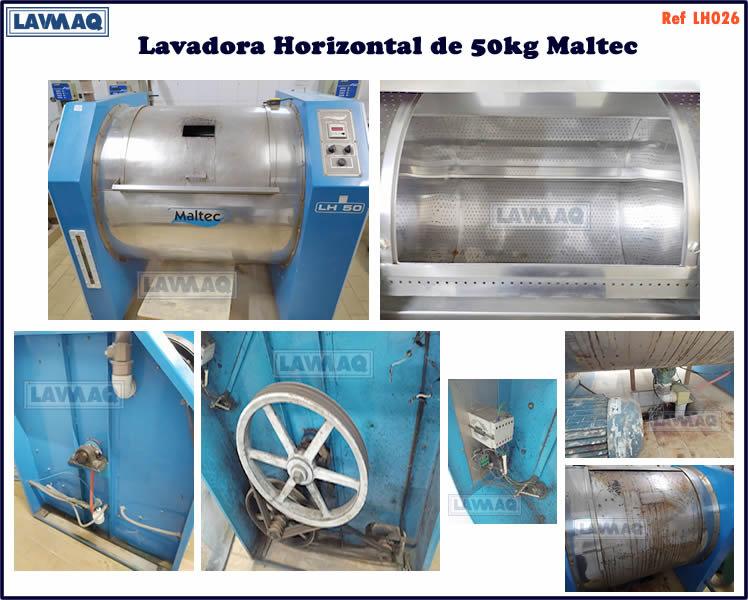 ref LH026 lavadora horizontal 50kg Maltec