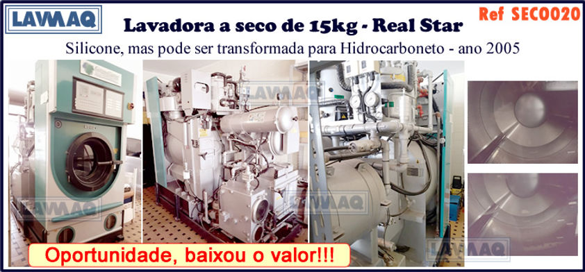 ref SECO020 lavadora a seco 15kg marca R