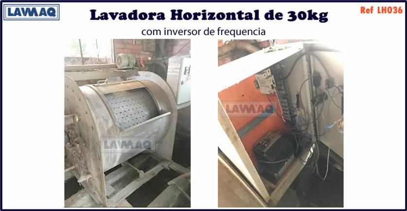 ref LH036 lavadora horizontal 30kg