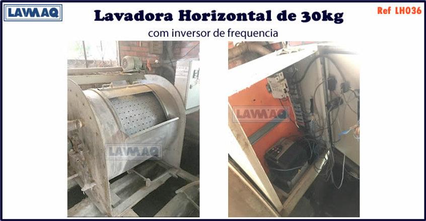 ref LH036 lavadora horizontal 30kg com i