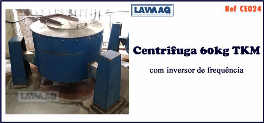 ref CE024 centrifuga 50kgTKM com inversor de frequencia