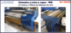 ref CAL046 calandra usada 4 rolos de 300mm para lavanderia industrial