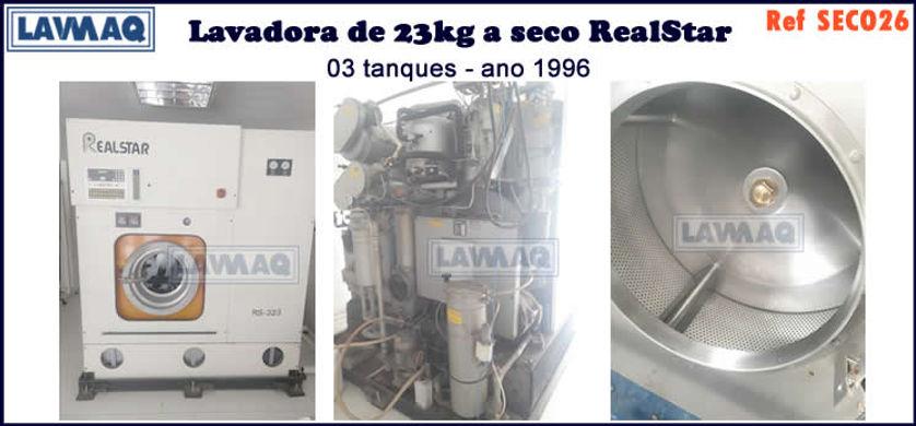 ref SECO026 lavadora a seco 23kg realstar