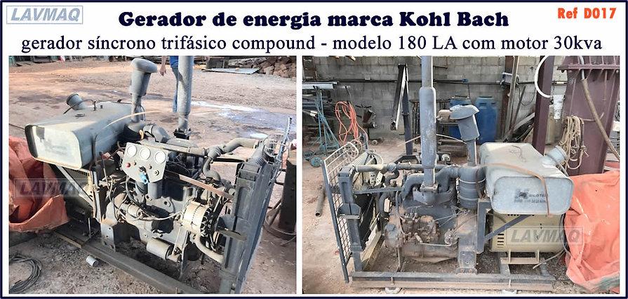 gerador de energia kohl bach