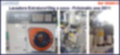 Lavadora extratora a seco de 10kg por ciclo de lavagem para lavanderia industrial