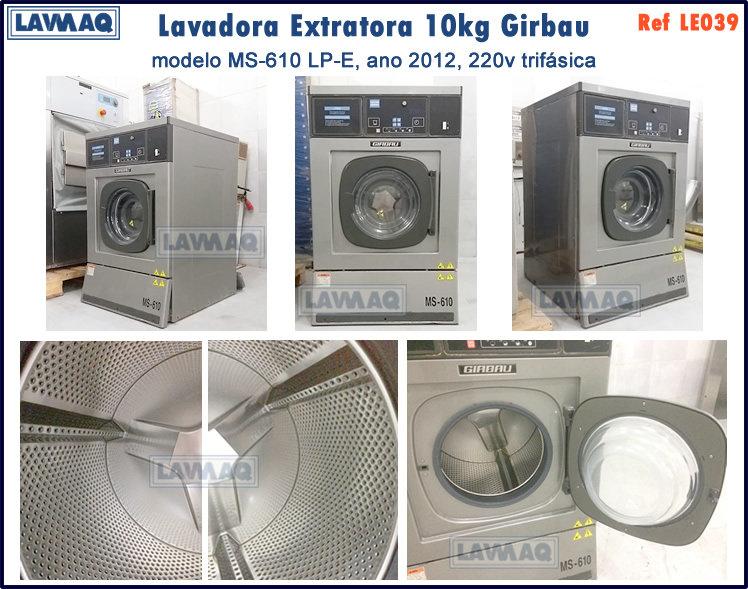 ref LE039 lavadora extratora 10kg Girbau