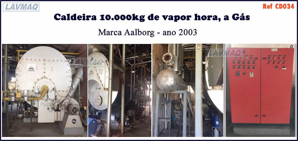 caldeira usada de 10 000kg h aalborg