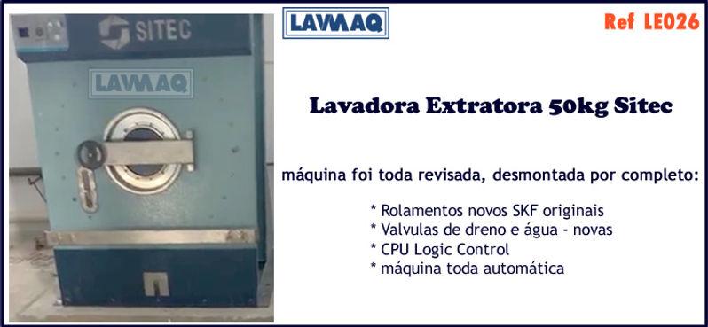 ref LE026 lavadora extratora usada 50kg Sitec para lavanderia industrial