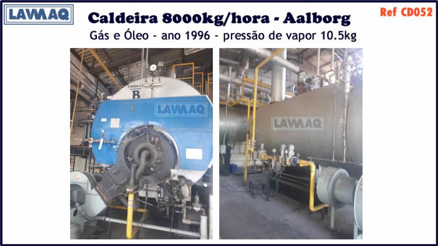 ref CD052 Caldeira usada de 8000kg h Aalborg