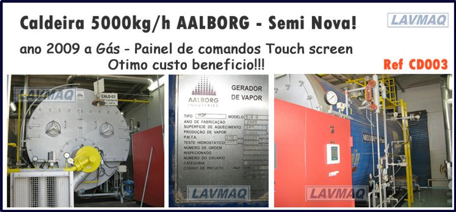 Caldeira usada 5000kg por hora a gás para lavanderia industrial LAVMAQ