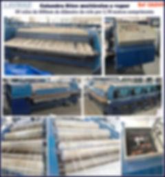 ref CAL049 calandra usada 4 rolos de 600mm para lavanderia industrial
