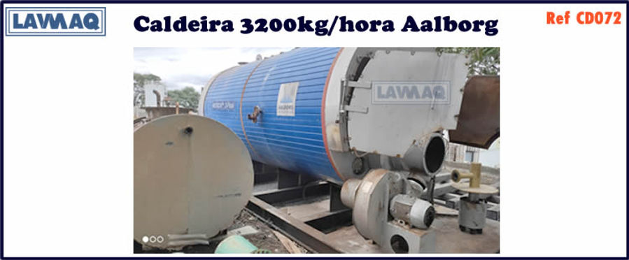 ref CD072 Caldeira de 3200 kg h aalborg