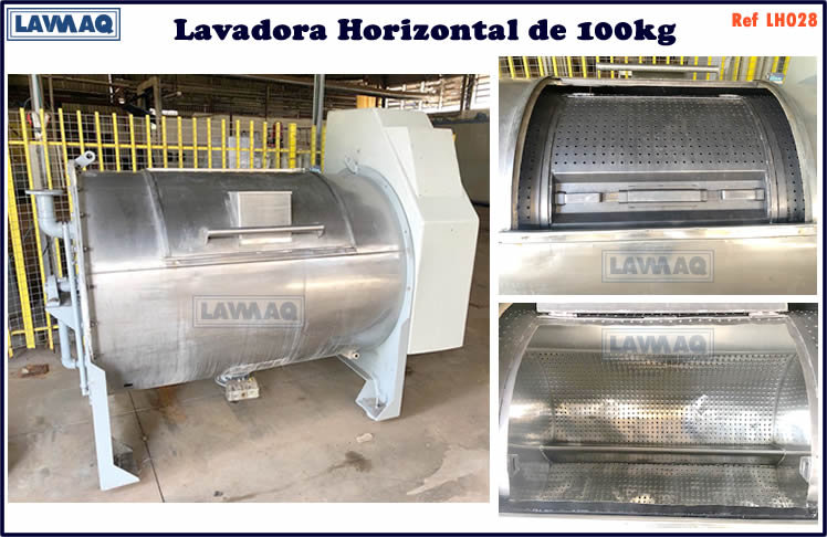 ref LH028 lavadora horizontal 100kg