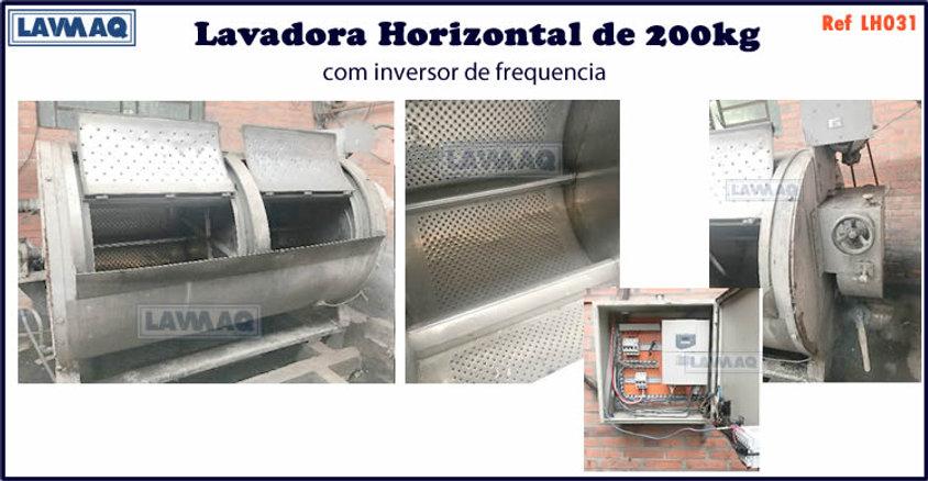 ref LH031 lavadora horizontal 200kg sitec