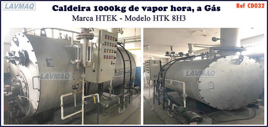 Caldeira usada 1000kg a gas htek