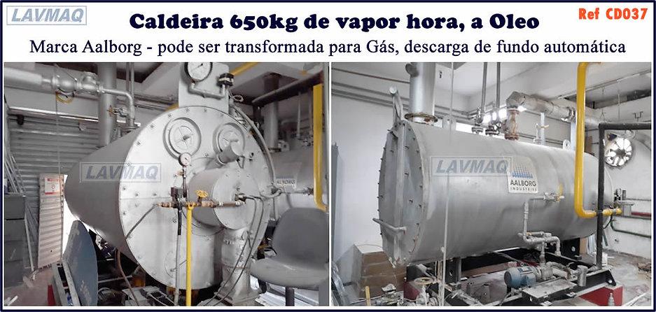 Caldeira usada de 650kg h a oleo Aalborg