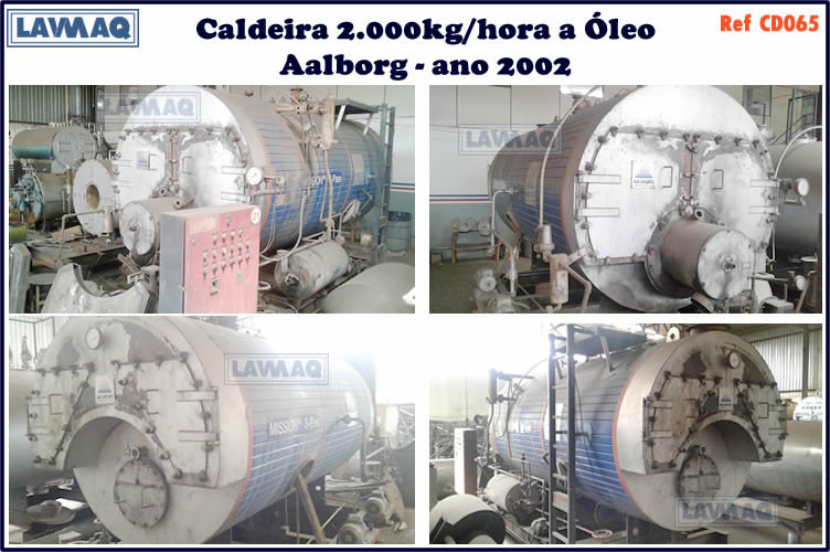 ref CD065 Caldeira de 2 000 kg h Aalborg