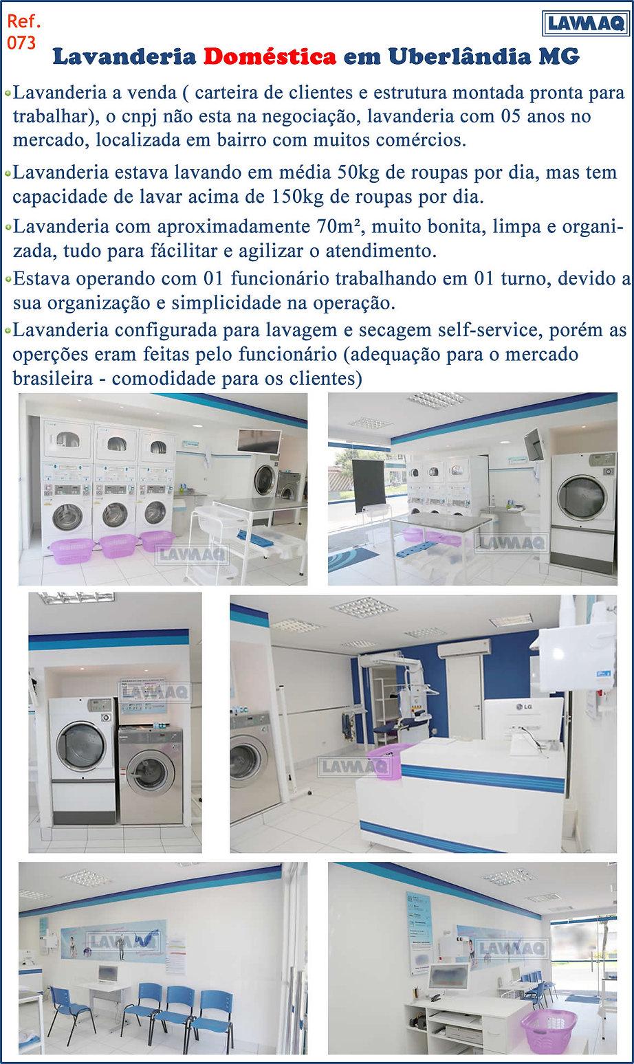 ref 073 lavanderia domestica em Uberlandia