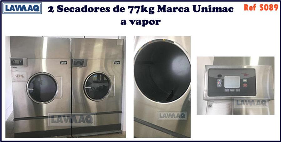 ref S089 secador 77kg  Unimac a vapor