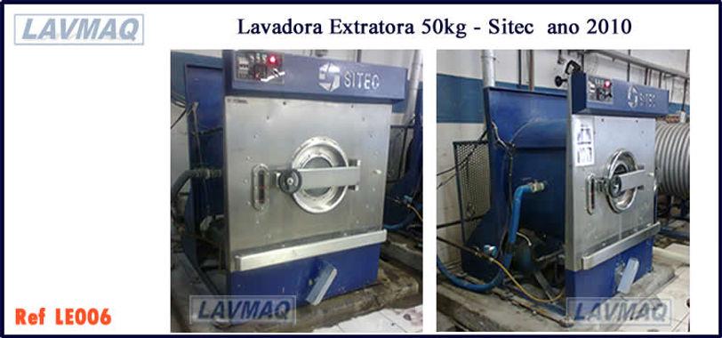 Lavadora extratora usada 50kg Sitec para lavanderia industrial