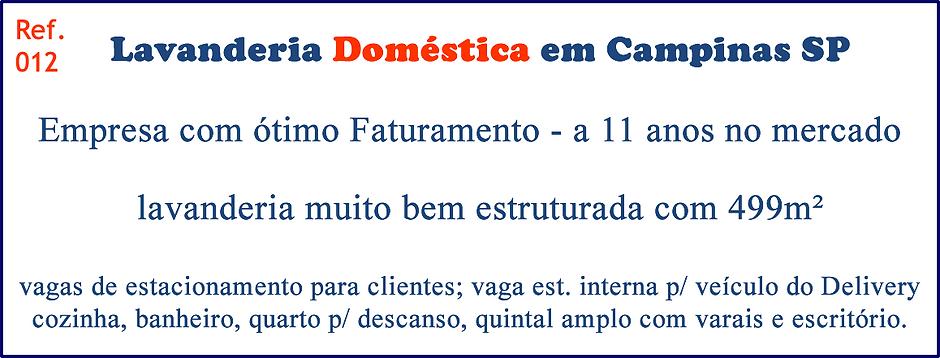 Lavanderia Doméstica em Campinas no estado de São Paulo a venda
