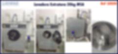 ref LE020 lavadora extratora usada 20kg MSA para lavanderia industrial