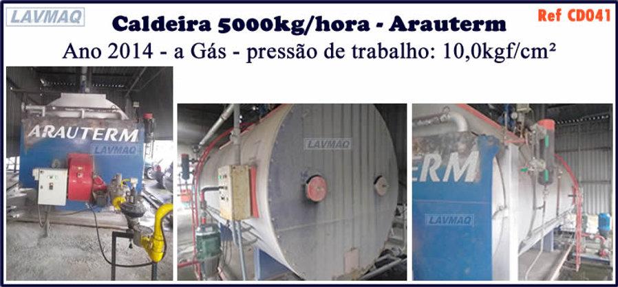 Caldeira usada de 5000kg h Arauterm