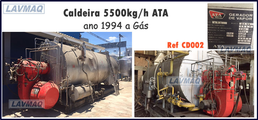Caldeira 5500kg por hora a gás para lavanderia industrial LAVMAQ
