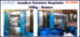 ref LEH020 lavadora extratora usada 100kg Baumer para lavanderia industrial