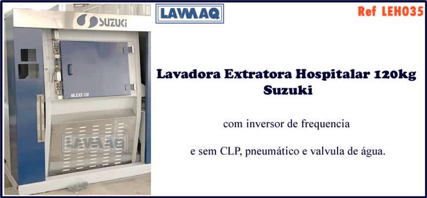 ref LEH035 lavadora extratora hospitalar usada 120kg para lavanderia industrial