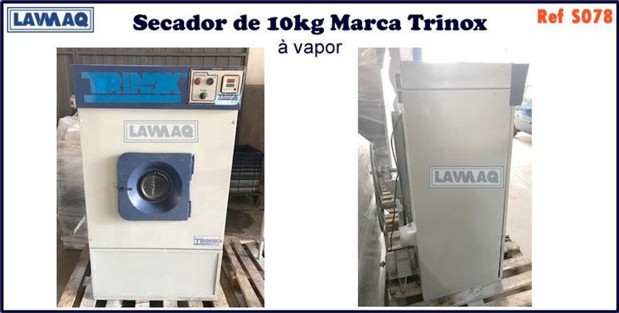 ref S078 secador 10kg a vapor marca trinox