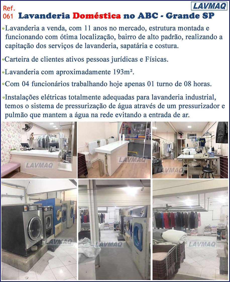 ref 061 lavanderia domestica em Santo An